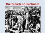 the breach of jeroboam