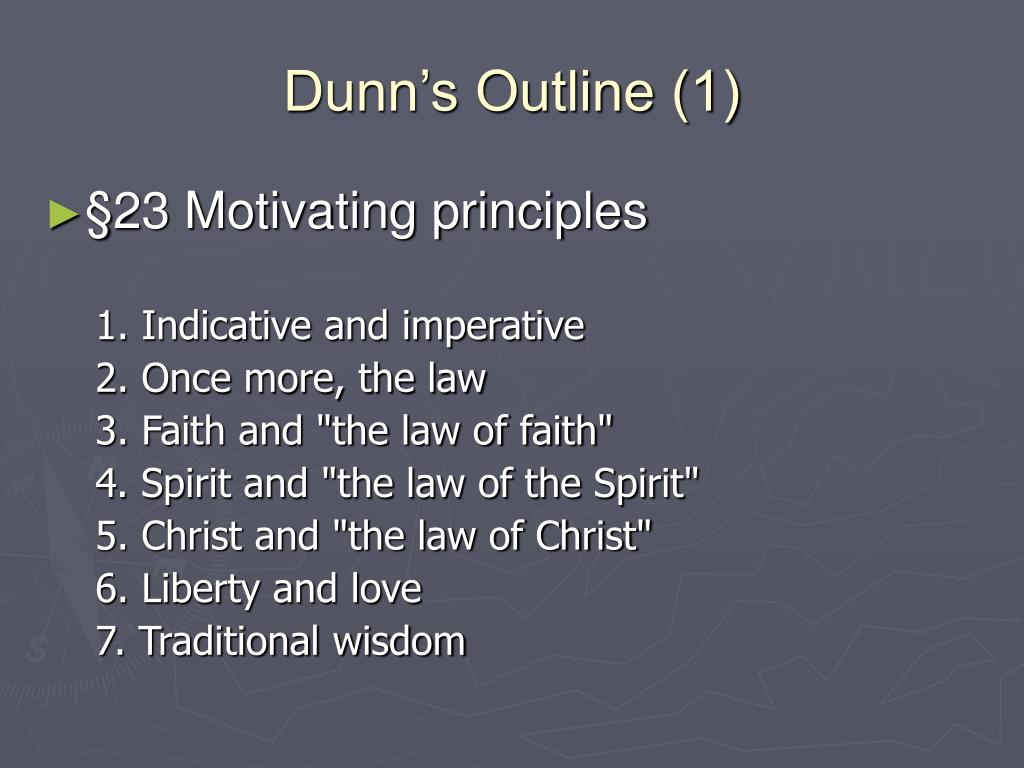 Dunn's Outline (1)