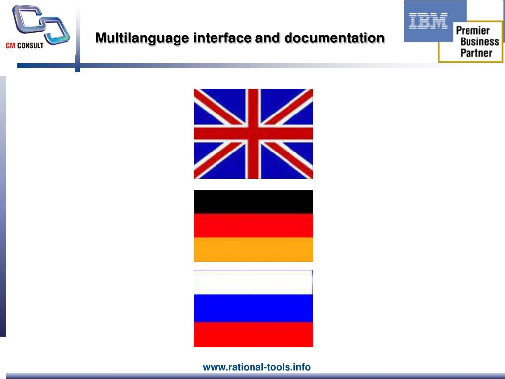 Multilanguage interface and documentation