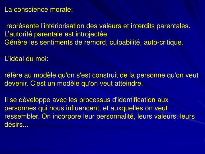 La conscience morale: