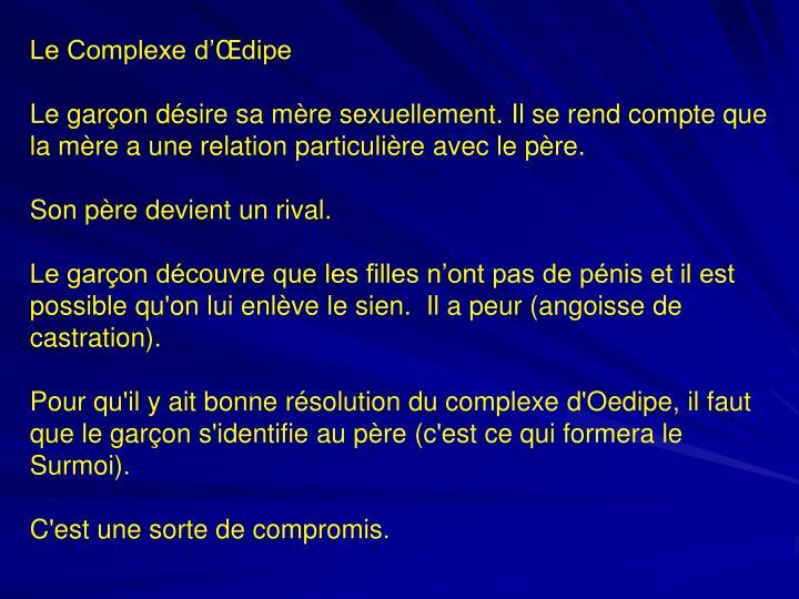 Le Complexe d'Œdipe