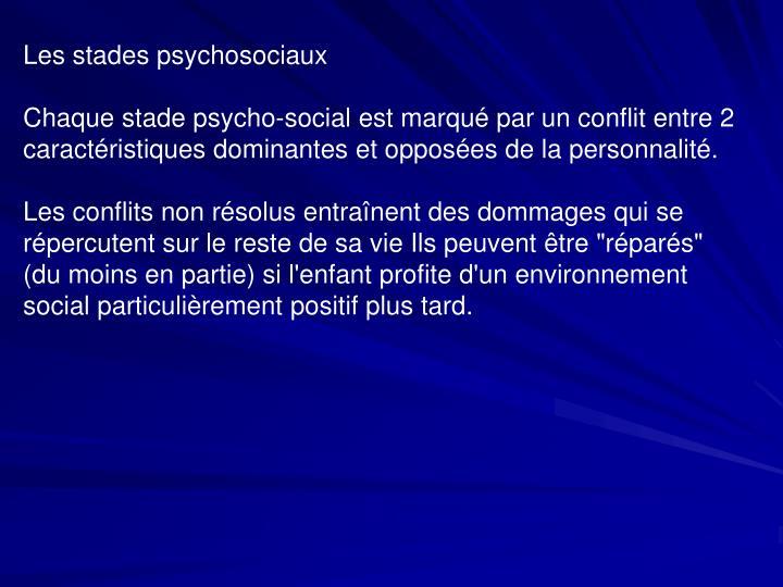 Les stades psychosociaux