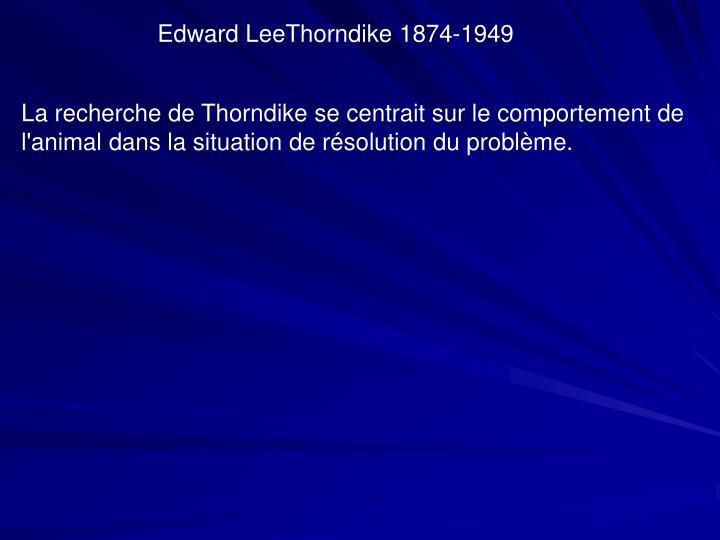 Edward LeeThorndike 1874-1949