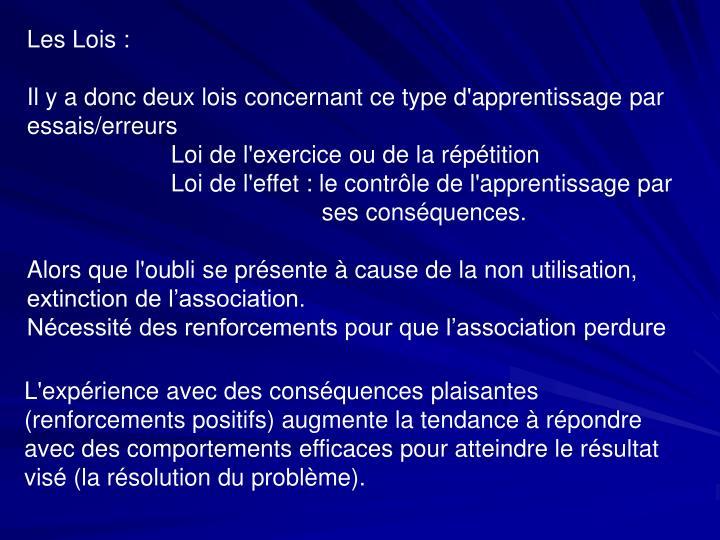 Les Lois :