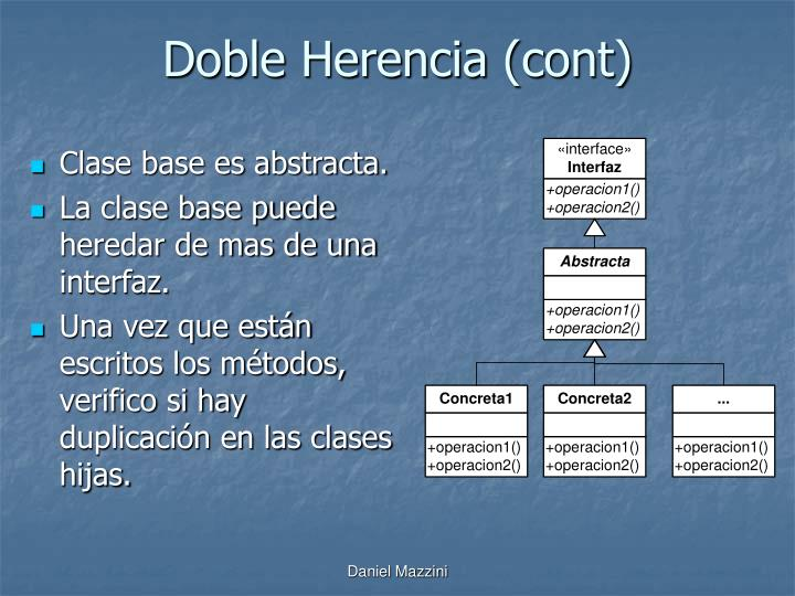 Doble Herencia (cont)