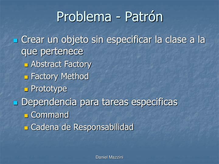 Problema - Patrón