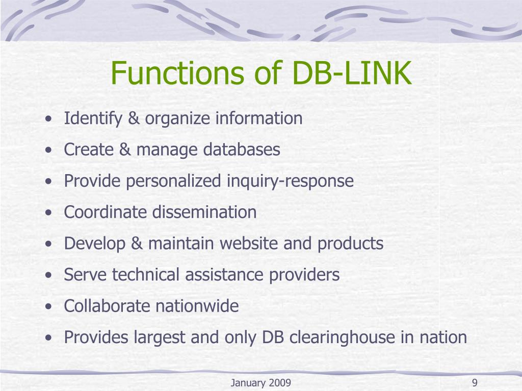 Functions of DB-LINK