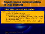 asynchronous communication in net cont d