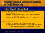 asynchronous communication in net cont d1