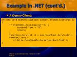 example in net cont d