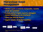 hierarchical event management
