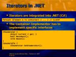 iterators in net