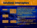 solutions interceptors