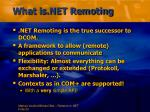 what is net remoting