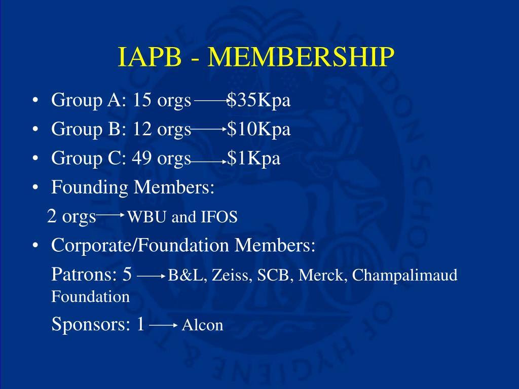 IAPB - MEMBERSHIP