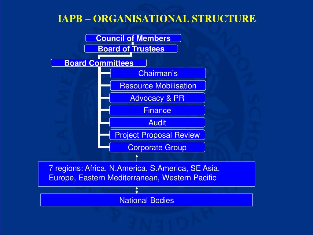 IAPB – ORGANISATIONAL STRUCTURE