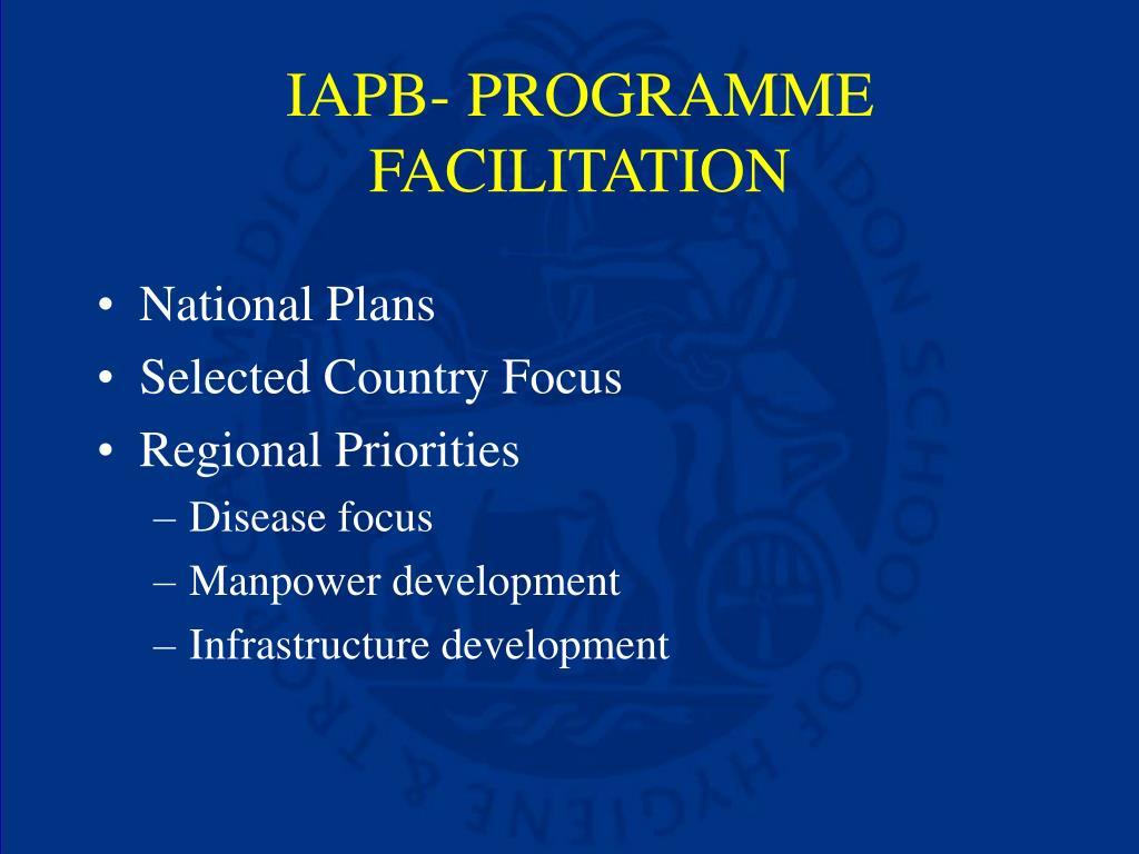 IAPB- PROGRAMME FACILITATION