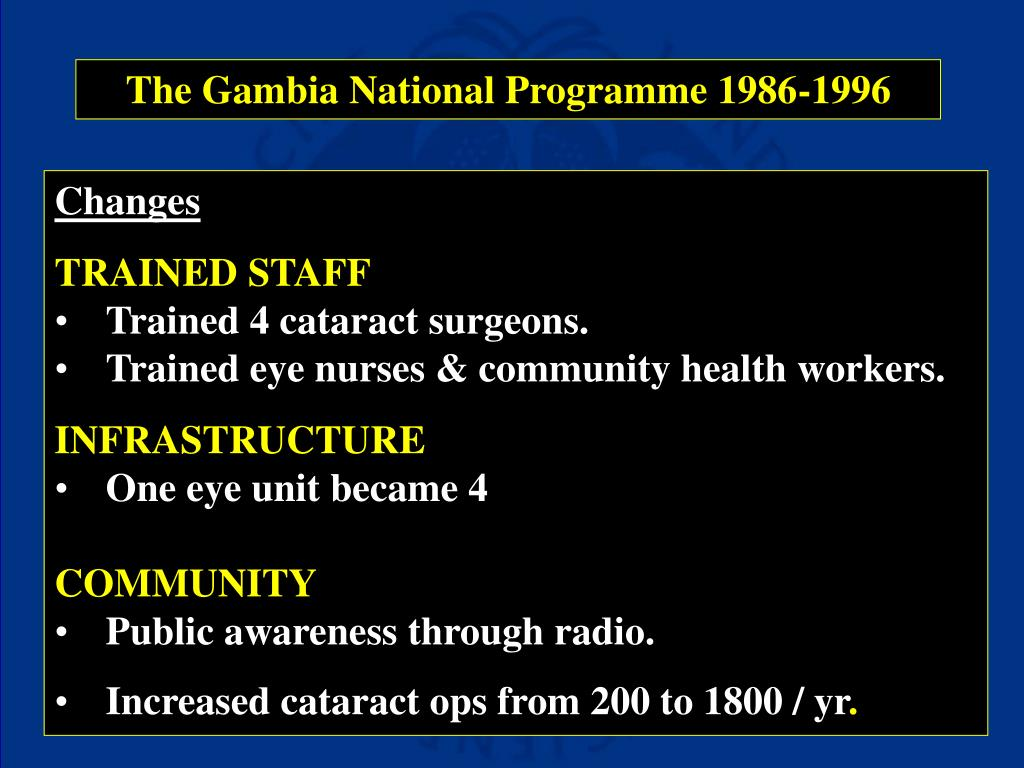 The Gambia National Programme 1986-1996