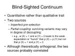 blind sighted continuum8