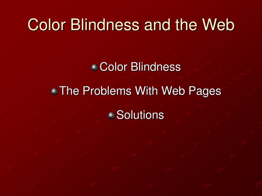 Color Blindness and the Web