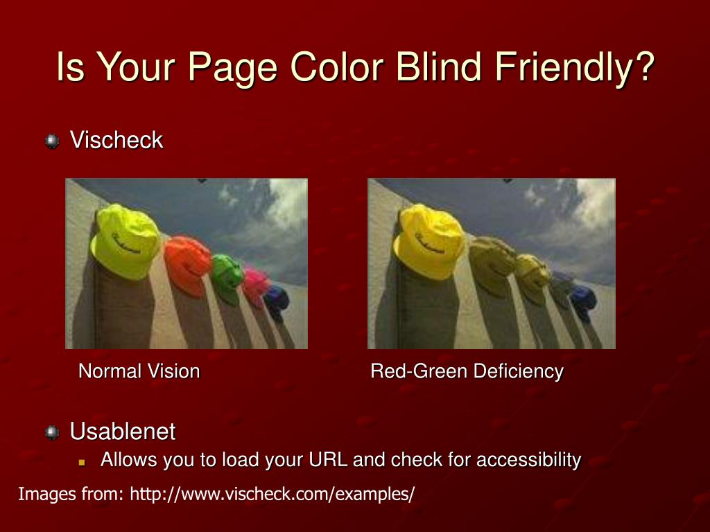 Is Your Page Color Blind Friendly?