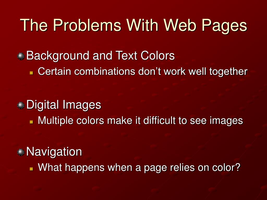 The Problems With Web Pages