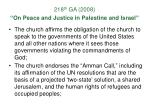 218 th ga 2008 on peace and justice in palestine and israel