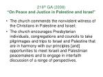 218 th ga 2008 on peace and justice in palestine and israel13