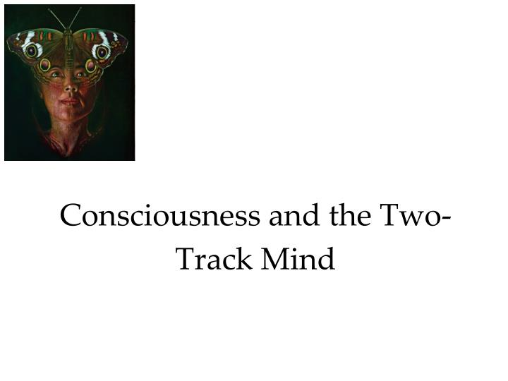 Consciousness and the two track mind