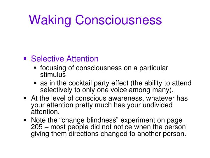 Waking consciousness3