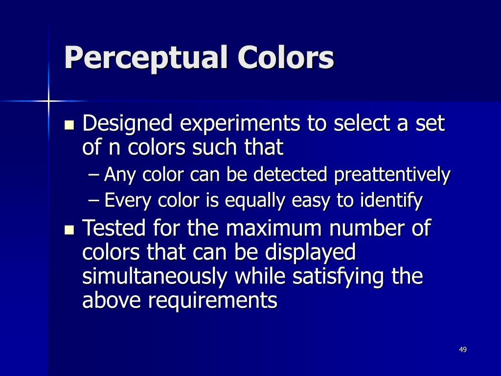 Perceptual Colors