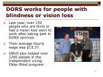 dors works for people with blindness or vision loss