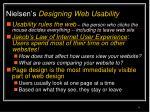 nielsen s designing web usability