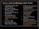 nielsen s top ten mistakes in web design http www useit com alertbox 9605 html