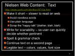 nielsen web content text http www useit com alertbox 9710a html