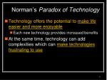 norman s paradox of technology