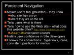 persistent navigation