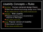 usability concepts rules