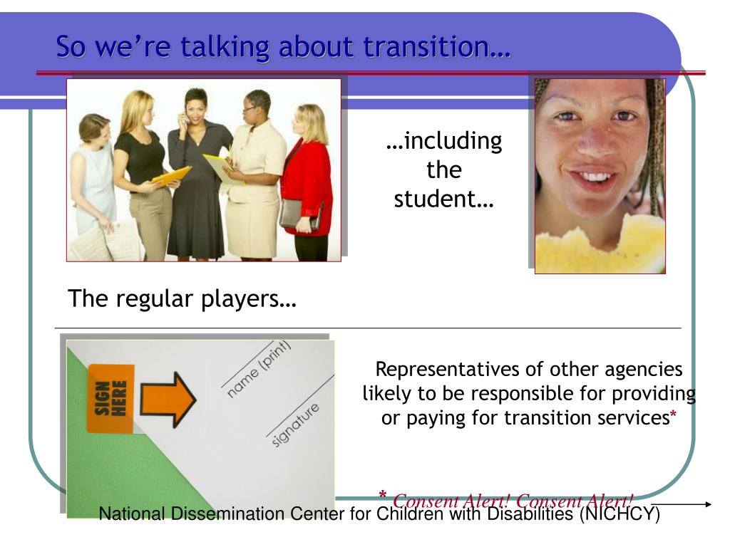 So we're talking about transition…