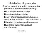 ca definition of green jobs