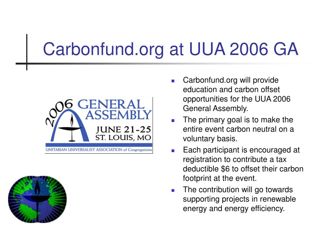 Carbonfund.org at UUA 2006 GA