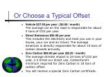 or choose a typical offset