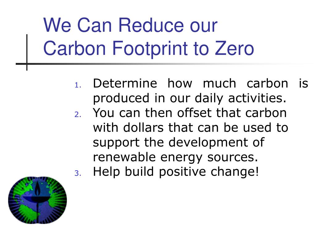 We Can Reduce our