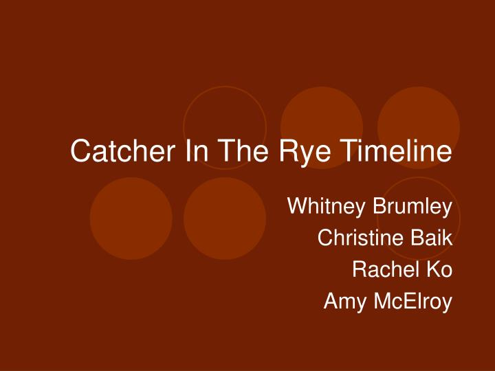 catcher in the rye timeline n.