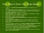 easy ways to green your study abroad