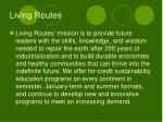 living routes