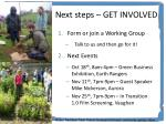 next steps get involved