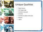 unique qualities