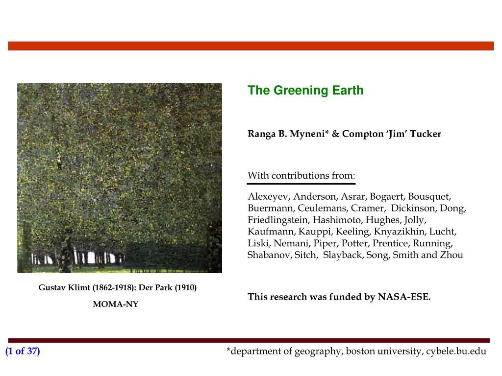the greening earth l.