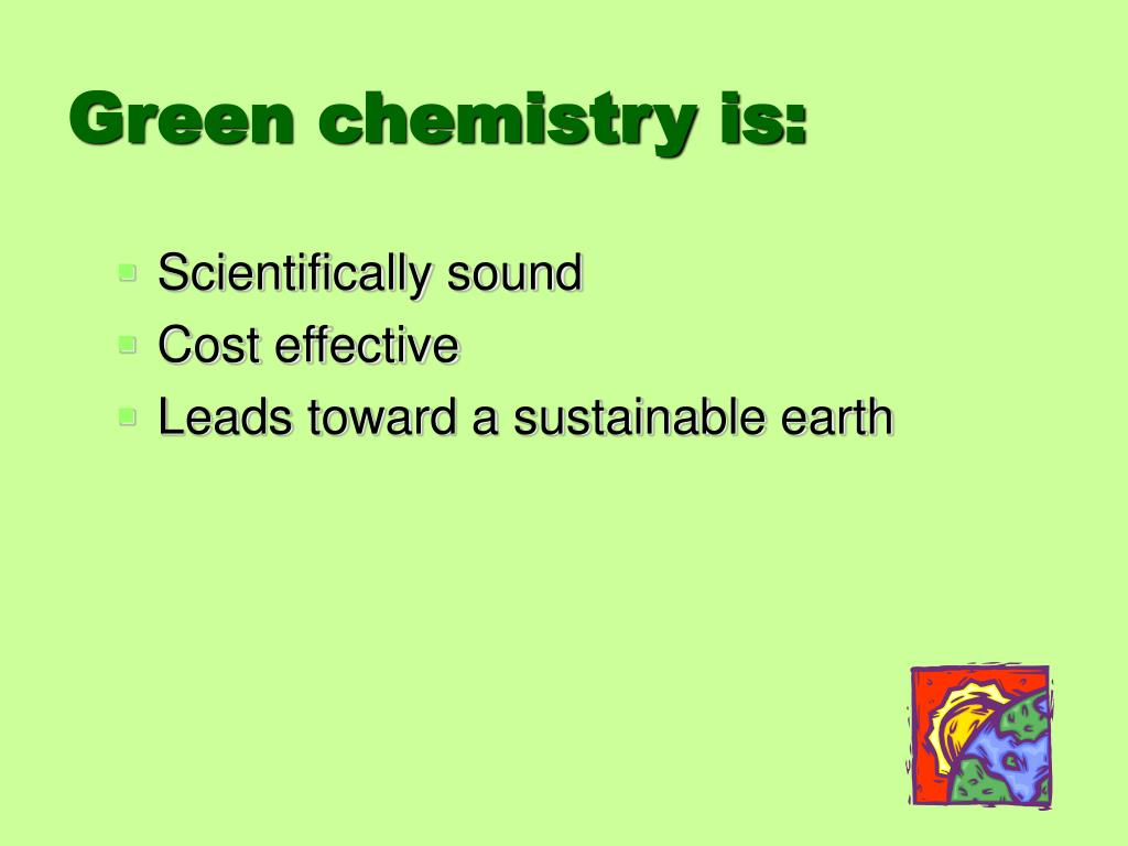 Green chemistry is: